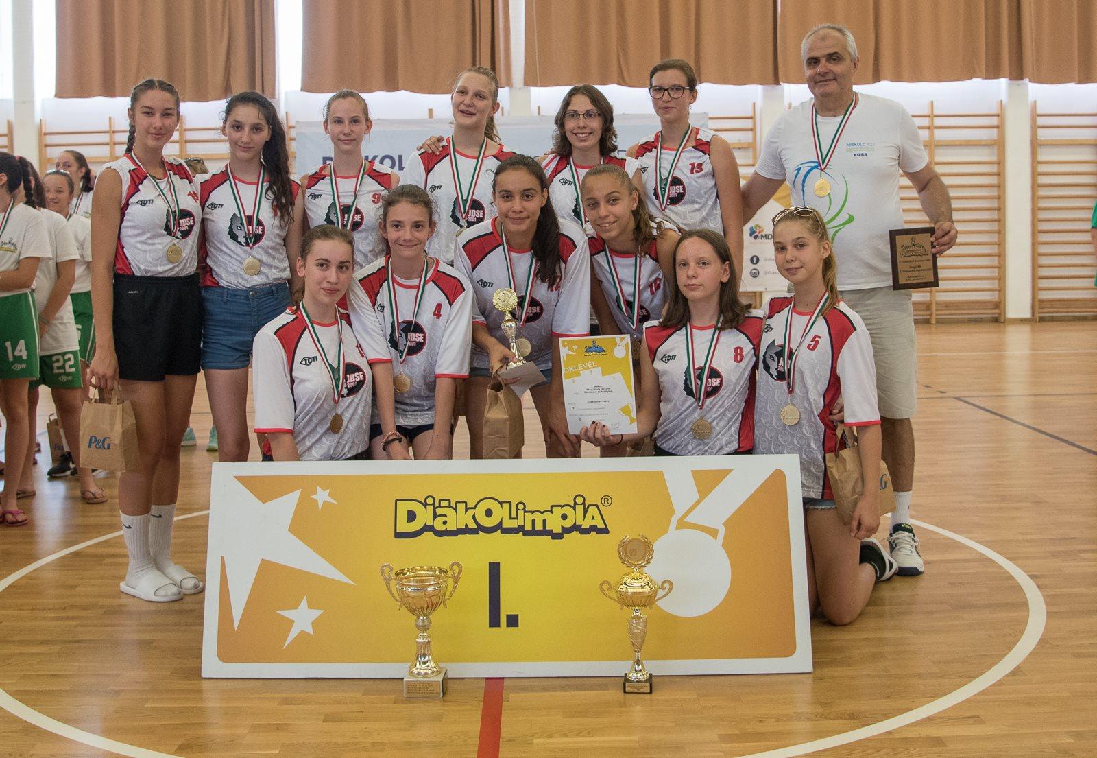 Kosárlabda lány győztes